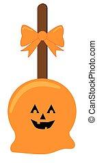 Happy Halloween Candy Apple