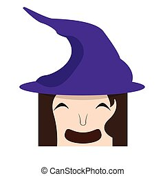 Happy halloween cartoon witch avatar