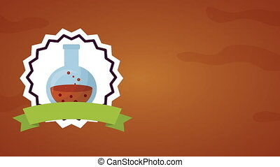 happy halloween celebration with tube spell animation - ...