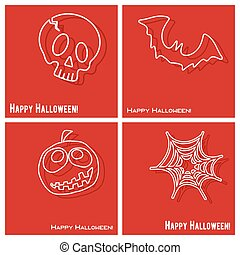 Happy Halloween cover template set