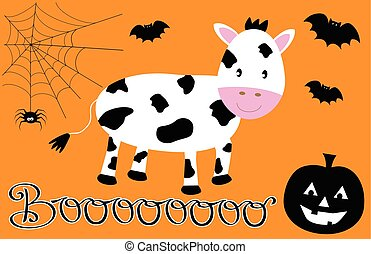 Happy Halloween Cow