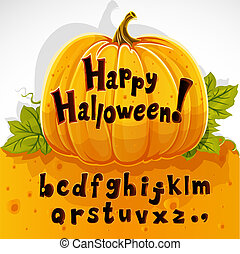cut out pumpkin lowercase alphabet