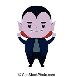 happy halloween cute dracula character