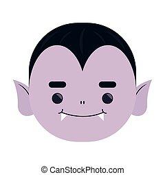 happy halloween cute dracula head character