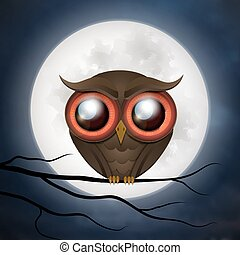 Happy Halloween cute owl.