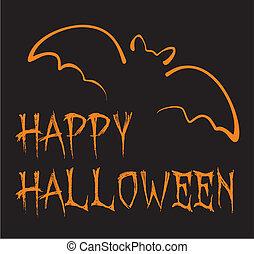 Happy Halloween dark vector card - Happy Halloween dark ...