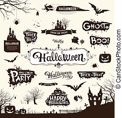 Halloween day silhouette collection - Happy Halloween day ...