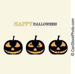 Happy Halloween design background with Halloween pumpkin. Vector