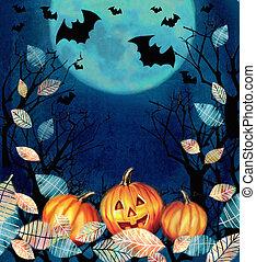 Happy Halloween design. Scary Halloween background