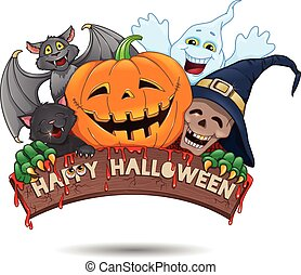 Happy Halloween fun banner