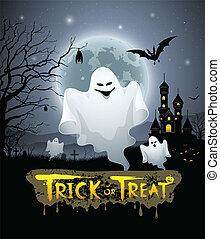 Happy Halloween ghost design