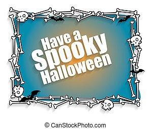 Happy Halloween Greeting Banner