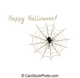 Happy halloween greeting card. Holiday background