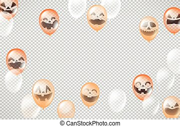 Happy Halloween greeting card template. Vector layout for a text