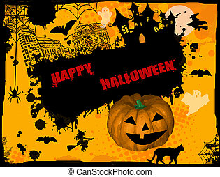 Happy Halloween grunge background