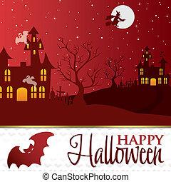 Happy Halloween - Halloween card in vector format.