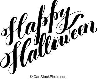 Halloween hand drawn lettering