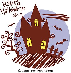 Happy Halloween. Haunted House