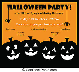 Happy Halloween Invite - Happy Halloween party invite...