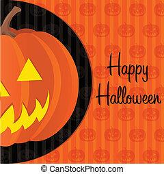 Happy Halloween! - Jack o lantern Happy Halloween card in...