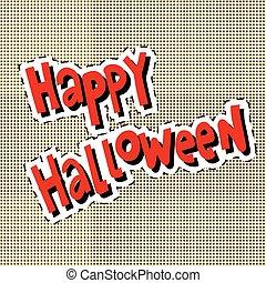 Happy Halloween label sticker