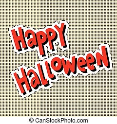 Happy Halloween label sticker