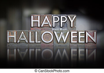 Happy Halloween Letterpress