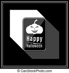 Happy Halloween Modern Style in Black and White