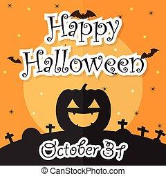 Happy Halloween Night Background wi
