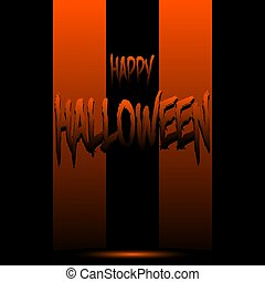 Happy Halloween on the background of stripes