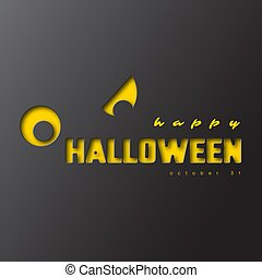 Happy halloween, paper cut style.