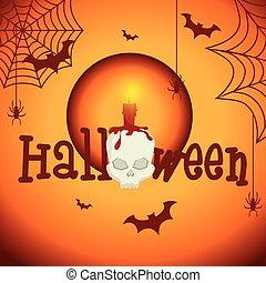 Happy halloween party festival card design, vector...