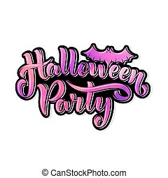 Happy Halloween Party Lettering for your design, illustration on a Halloween theme