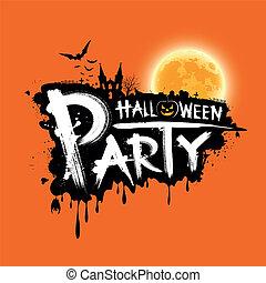 Happy Halloween party text