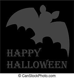 Happy Halloween party vector card