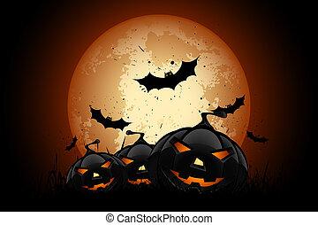 Happy Halloween Poster. Holiday Illustration.