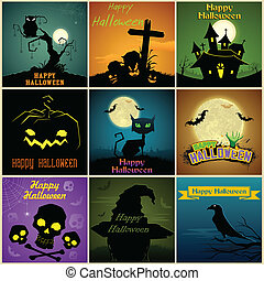 Happy Halloween Poster - illustration of Happy Halloween ...
