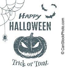 Happy Halloween, poster template.