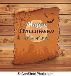 Happy Halloween poster template.