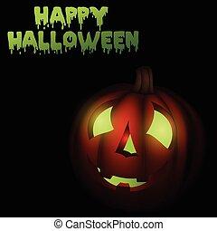 Happy Halloween-pumpkin background