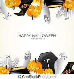 Happy Halloween Pumpkin Background Vector