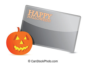 Happy halloween pumpkin card