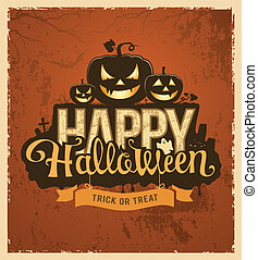 Halloween pumpkin message design