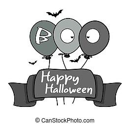 Happy Halloween Ribbon Banner