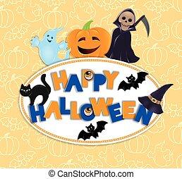 Happy Halloween round board