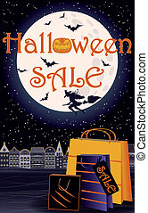 Happy Halloween sale invitation