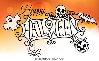 Happy Halloween Sign Background