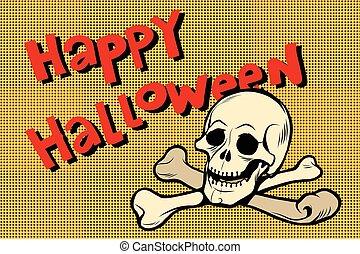 Happy Halloween skull and bones