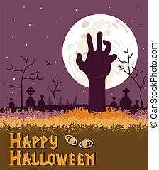 Happy Halloween Spooky background