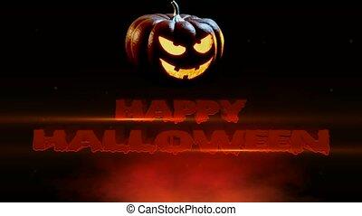 Happy Halloween Spooky Jack O Lantern (Halloween Pumpkin) -...